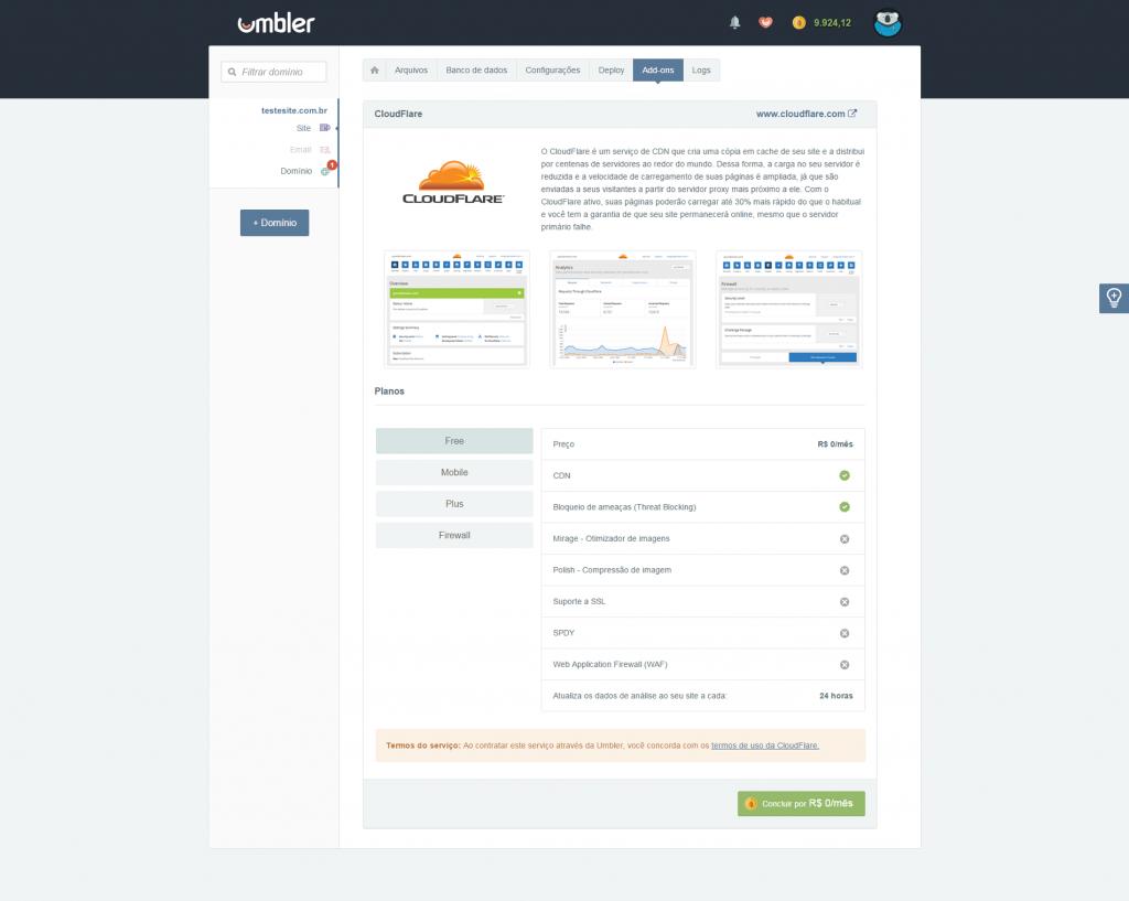 AddOn CloudFlare Umbler