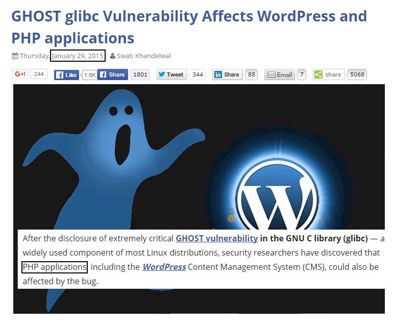 Impacto das atualizações WP Ghost