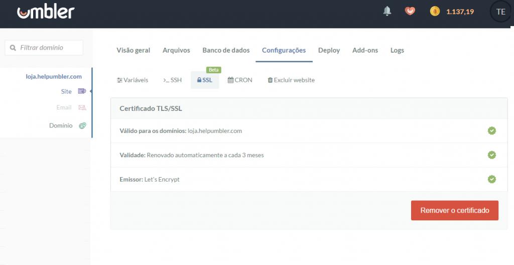 SSL grátis via Let's Encrypt