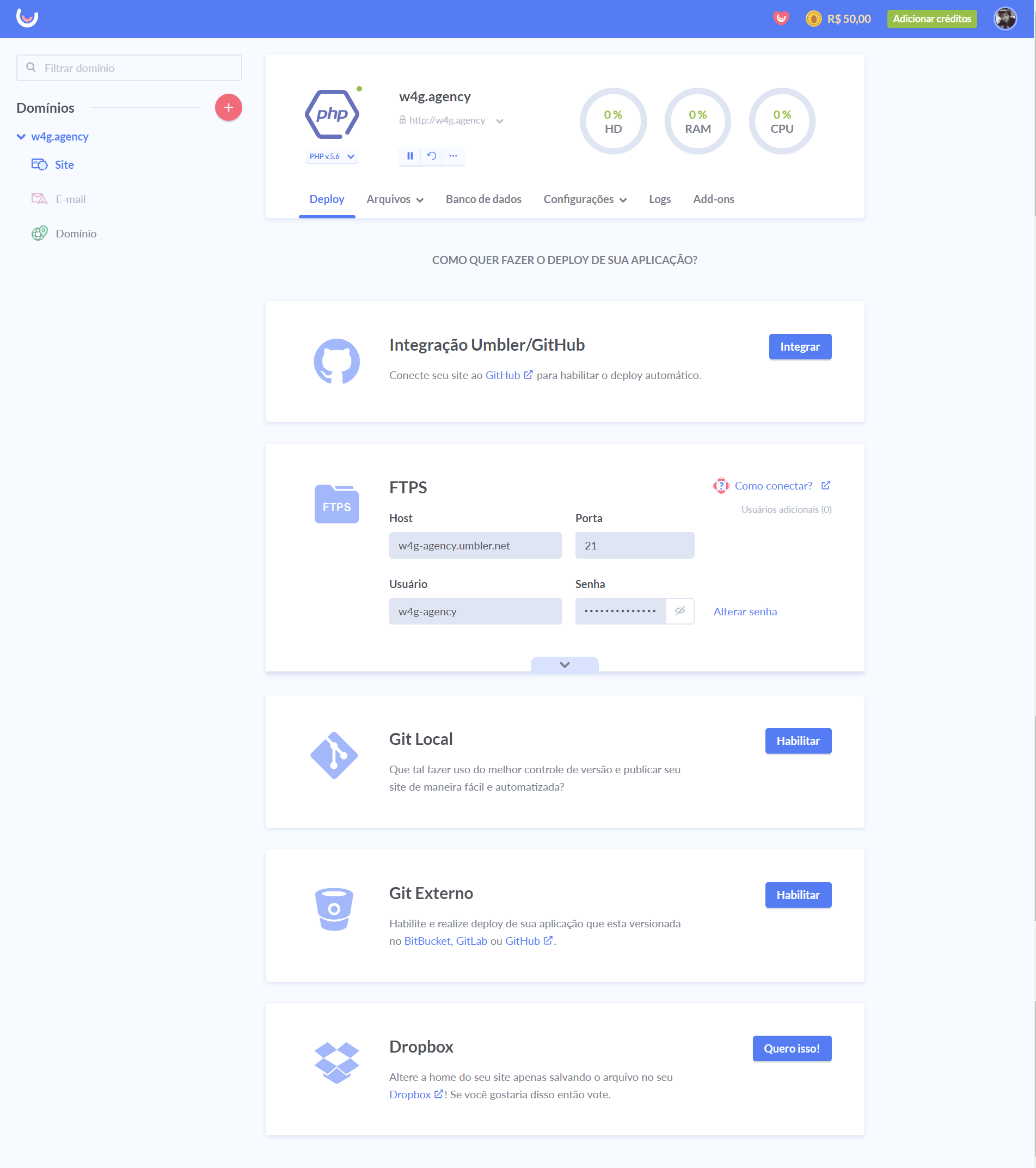 Página de Website nova UIcom destaque para Deploy