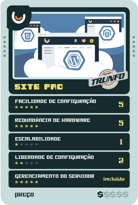 Super Trunfo do Hosting - Site Pro