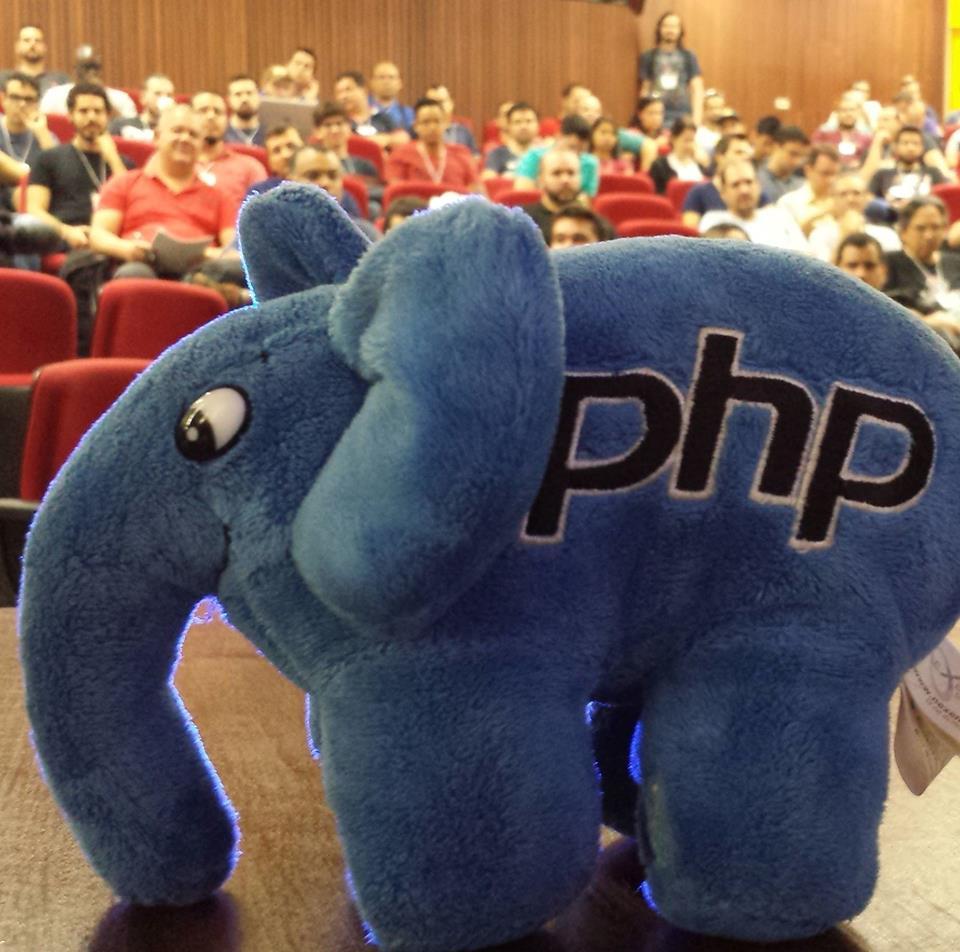 Imagem ElePHPant no PHP Conference 2016
